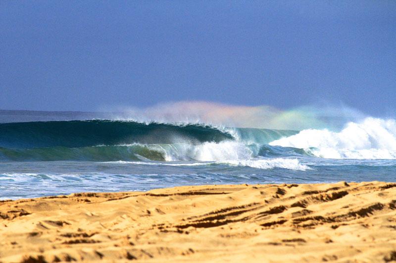 Kauai Wave with Rainbow