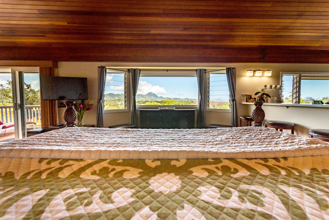 Alii Suite, view from bed